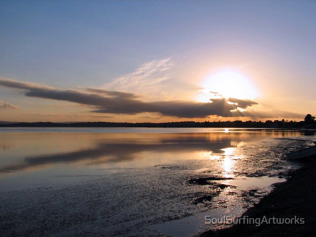 Canton Beach Sunset by SoulSurfingArtworks