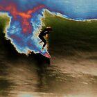 Neon Surfer by SoulSurfingArtworks