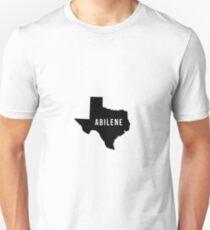 Abilene, Texas State Silhouette Unisex T-Shirt