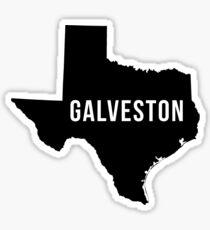 Galveston, Texas State Silhouette Sticker