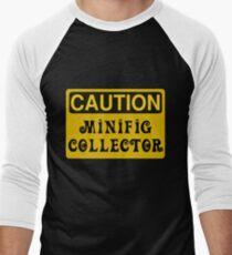 Caution Minifig Collector Sign  Men's Baseball ¾ T-Shirt