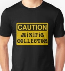 Caution Minifig Collector Sign  Unisex T-Shirt
