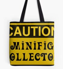 Caution Minifig Collector Sign  Tote Bag