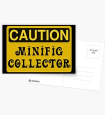 Caution Minifig Collector Sign  Postcards