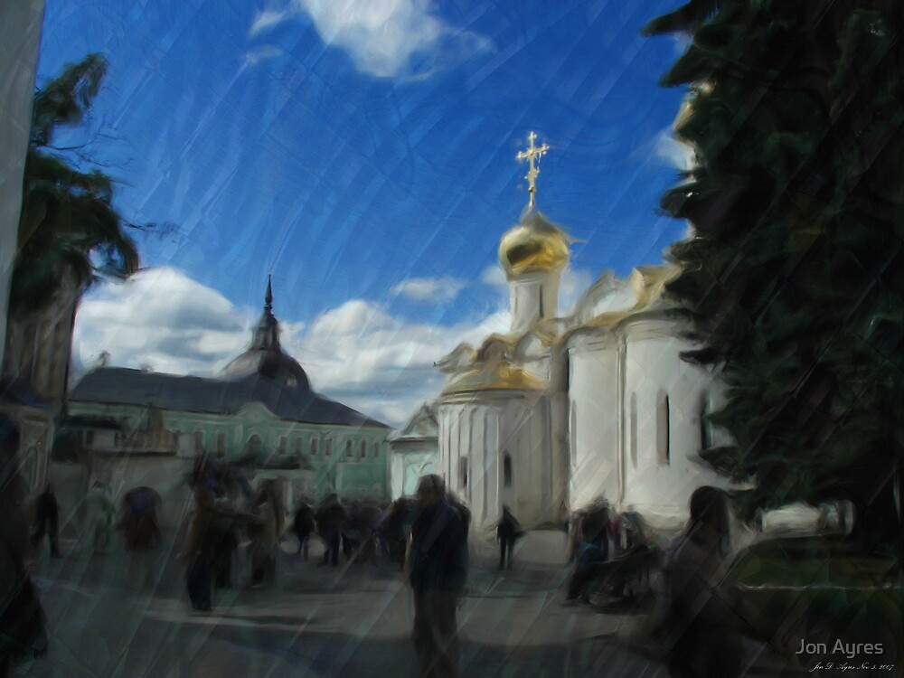 Inside View of Trinity Lavra of St. Sergius2 by Jon Ayres