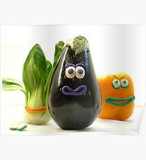 Quirky Vegetables Poster