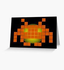 Orange Invader Greeting Card