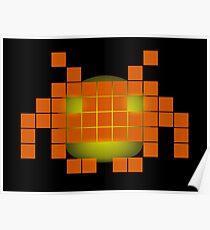 Orange Invader Poster