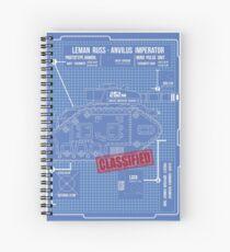 BLUEPRINT TEE - LEMAN RUSS 40K Spiral Notebook
