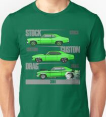 3 in 1 68-72 Green Chevy Nova Unisex T-Shirt