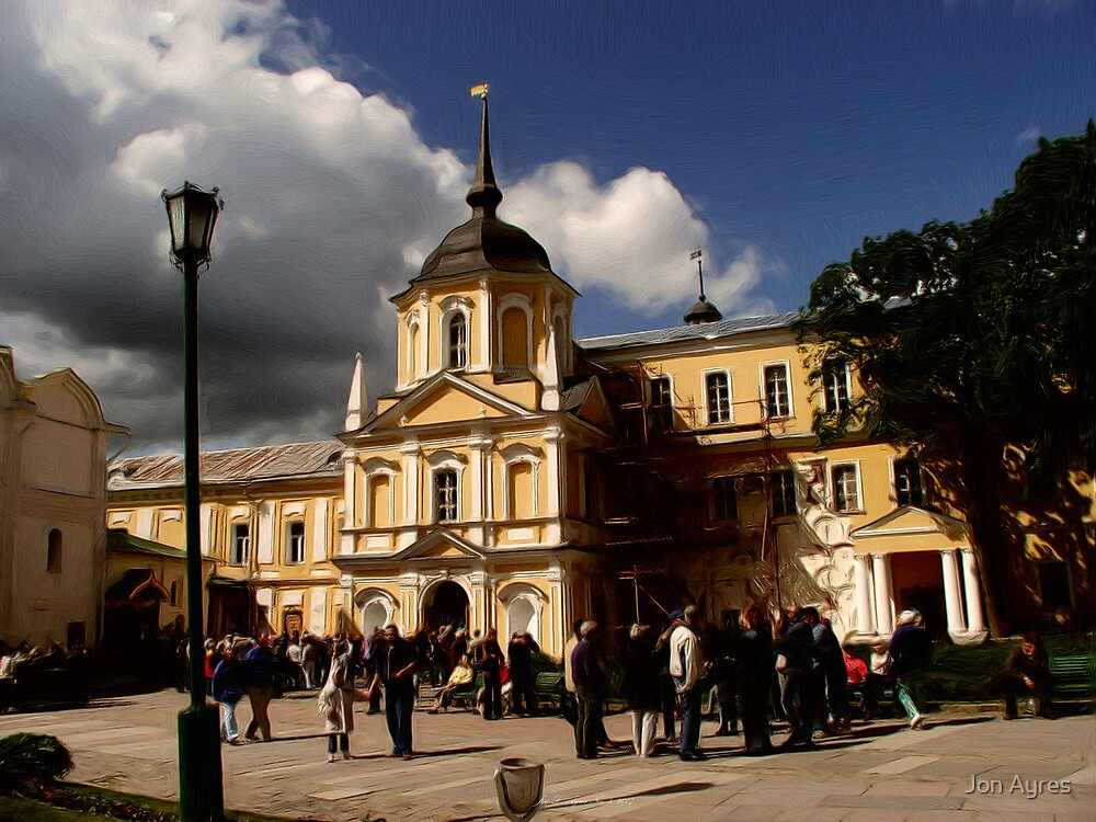 Living Quarters and chapels of The Trinity Lavra of St. Sergius by Jon Ayres