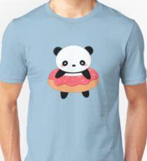 Kawaii Panda Donut  Slim Fit T-Shirt