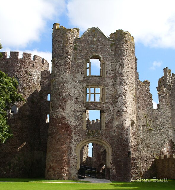 laugharne castle by Andrea Scott
