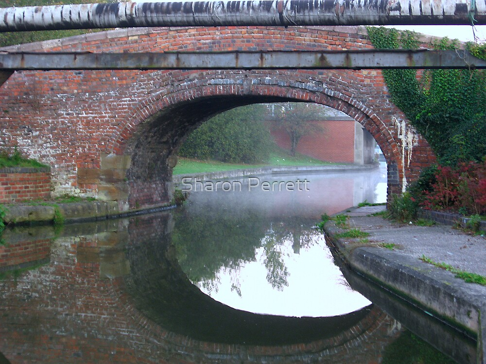The Bridge by the canal by Sharon Perrett