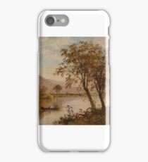 Jasper Francis Cropsey American  View on the Hudson River iPhone Case/Skin