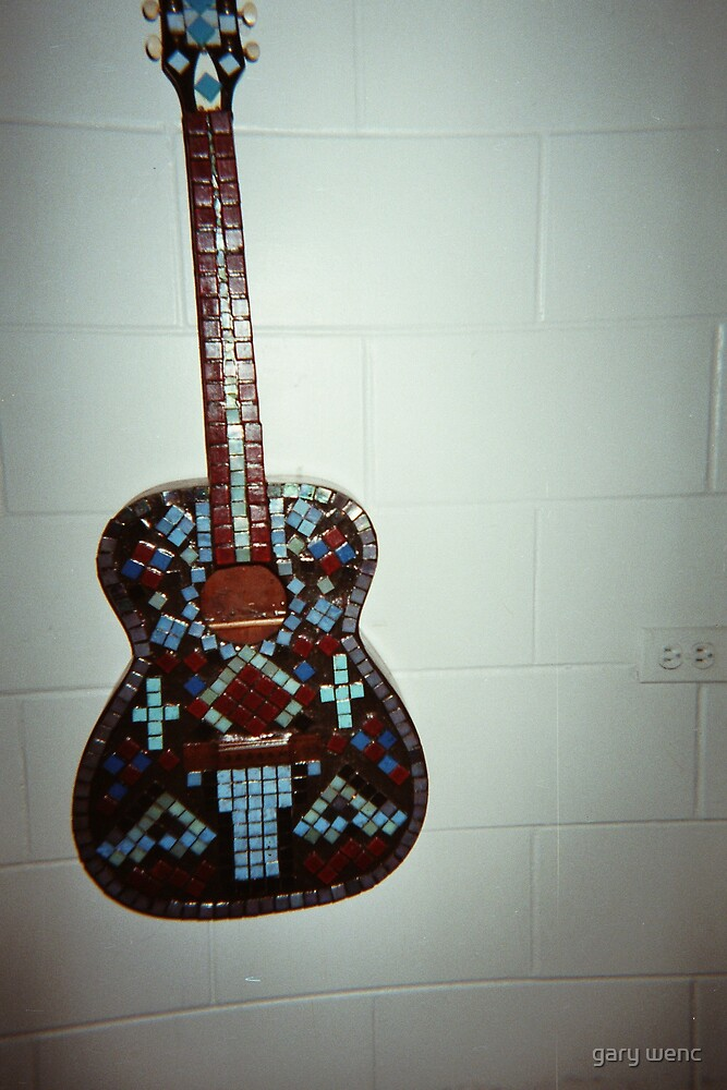 tiled guitar by gary wenc