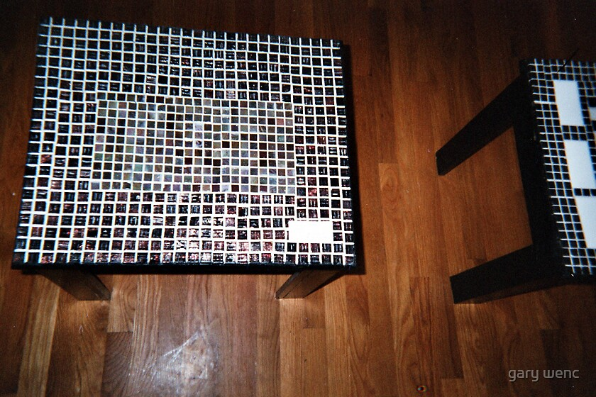 tiled table top by gary wenc
