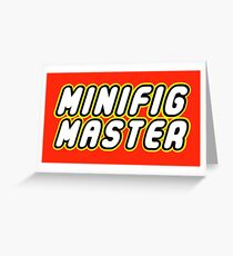 MINIFIG MASTER Greeting Card
