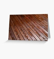 Beautiful mahogny hardwood floor Greeting Card