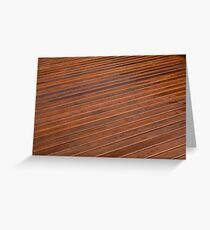 Beautiful mahogny hardwood deck floor Greeting Card