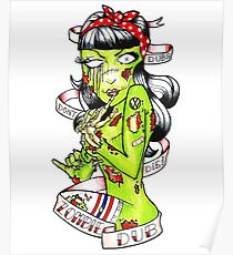 Zombie Dub - Dubs Don't Die 50s Pin Up Poster