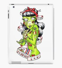 Zombie Dub - Dubs Don't Die 50s Pin Up iPad Case/Skin