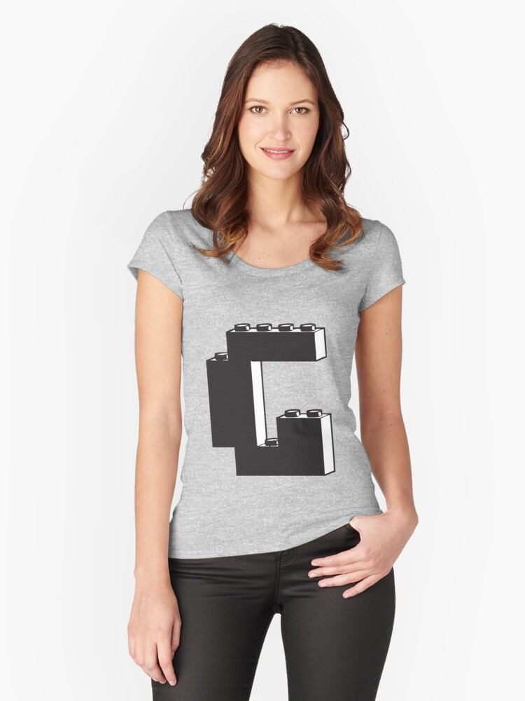 THE LETTER G Women's Fitted Scoop T-Shirt Front