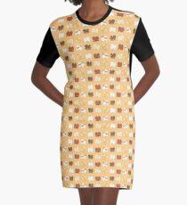 Pomeranian Parade Graphic T-Shirt Dress