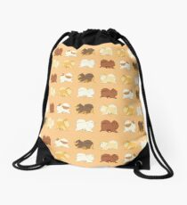Pomeranian Parade Drawstring Bag