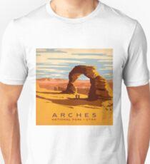 Arches National Park Utah Vintage Decal Unisex T-Shirt