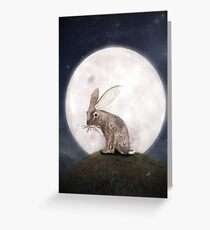 Night Rabbit Greeting Card