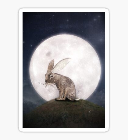 Night Rabbit Sticker