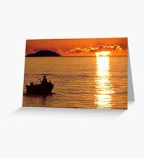 Sun's Last Light Greeting Card