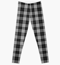 Black and White | Scottish Clan Tartan #home #lifestyle Leggings