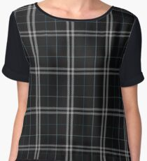Black, Blue, Navy, White | Scottish Clan Tartan #home #lifestyle Chiffon Top