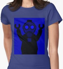 Apocalyse Minifigure wearing Gasmask Women's Fitted T-Shirt