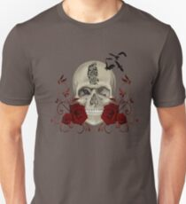 Gothic Skull With Tribal Tattoo Unisex T-Shirt