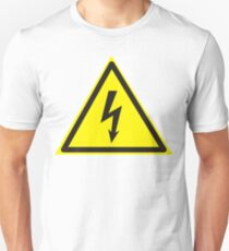Warning label. Voltage. Unisex T-Shirt