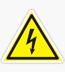 Warning label. Voltage. Sticker
