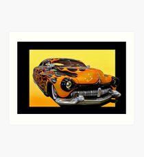 1950 Mercury Custom Coupe 'Chopped and Slammed' I Art Print