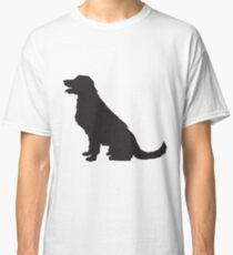 Sitting Golden Retriever Silhouette | Dogs Classic T-Shirt