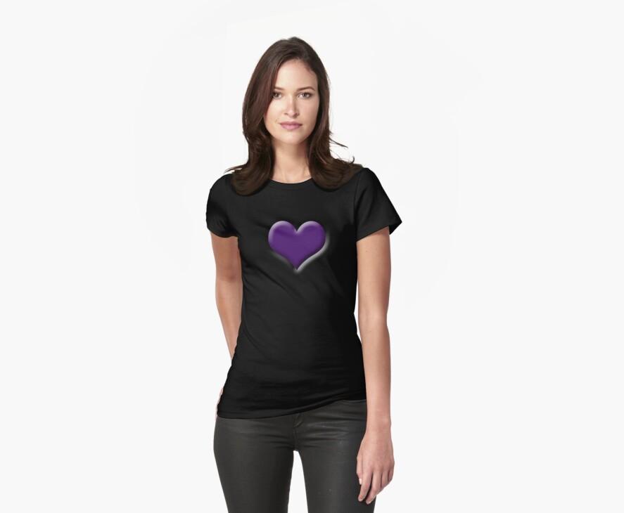 Purple 3-D Heart by Crockpot