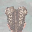 Braids and hair buns by justleiva