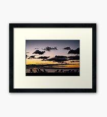 Sunrise over Lake Huron Framed Print