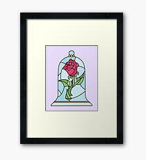 BEAUTY AND THE BEAST ROSE Framed Print