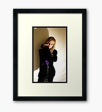 Sanna in black & purple Framed Print