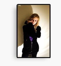 Sanna in black & purple Canvas Print