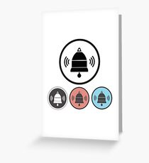 old bell icons Greeting Card