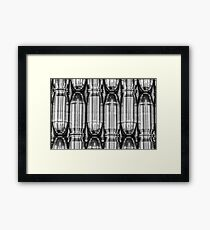 45 Auto #1 (Black & White) Framed Print