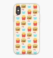 motif répété de copains burger Coque et skin iPhone
